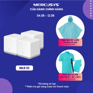 [300m2 bao trọn ]Hệ thống wifi Mesh cho gia đình Mercusys Halo S3(3-pack) Hãng phân phối chính thức thumbnail