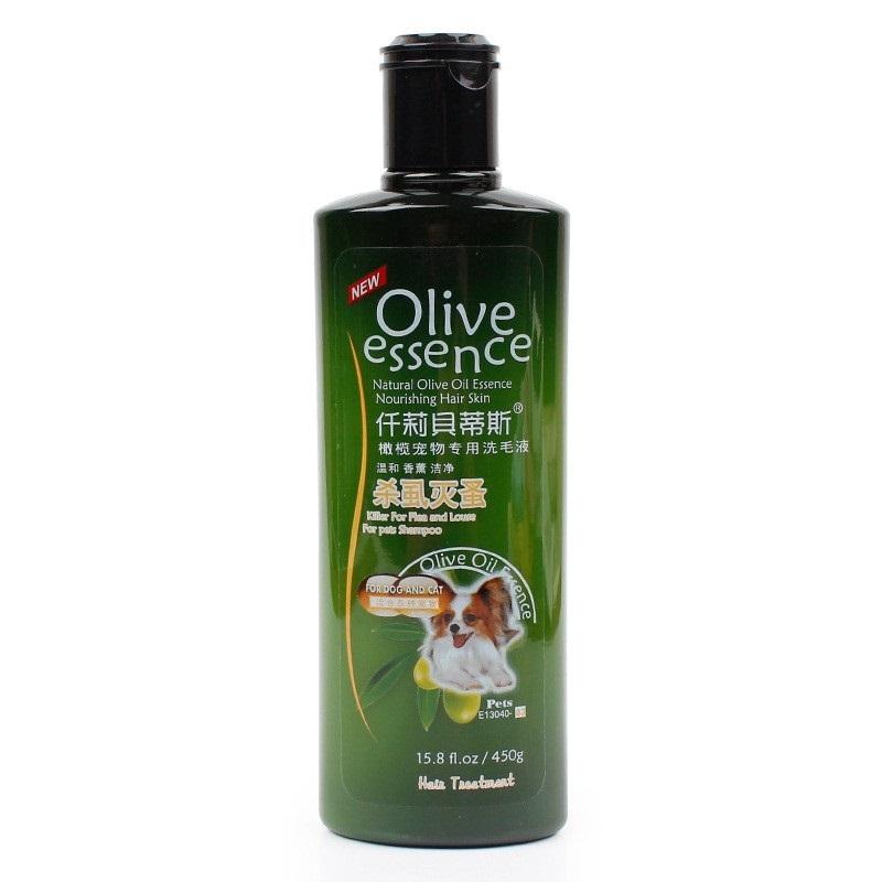 SỮA TẮM CHO THÚ CƯNG CHÓ MÈO Olive Essence Chai 450ml Chai Số 3 Diệt rận Bọ chét