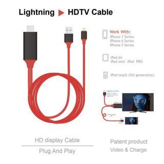 Dây kết nối Cao cấp giữa Tivi (cổng HDMI) với Iphone, Ipad (cổng Lightning) - Nối mạng cho Tivi nhà bạn Cáp MHL sang HDMI, HDTV kết nối điện thoại IOS với TV (iPhone 5 6 7 8 X - IOS 8-10-12) Cáp HDMI nối điện thoại với ti vi dùng cho Iphone [Thao2] Dũng thumbnail