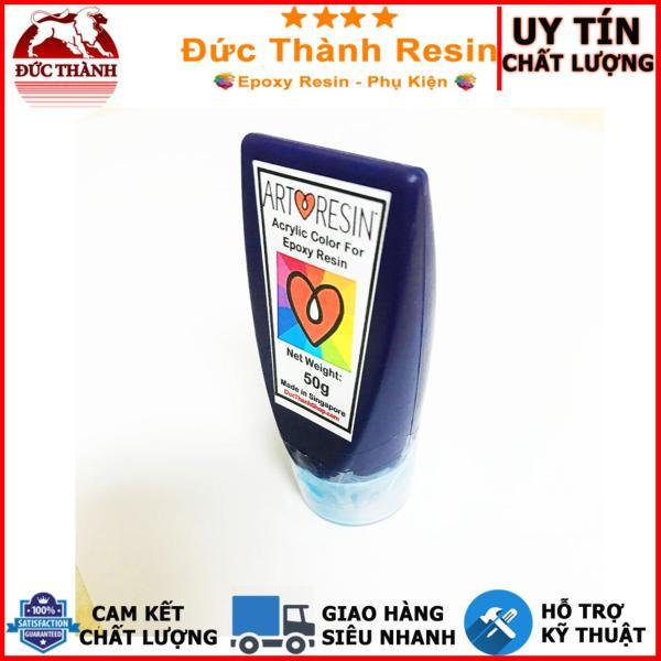 Màu Acrylic XANH DA TRỜI - BLUE chuyên dùng pha Epoxy Resin - Hộp 50g