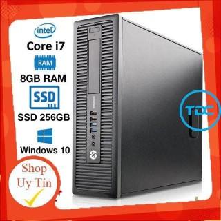 Máy tính để bàn HP ProDesk 600 G1 SFF CPU intel core i7 4770 - Ram DR3 8GB - Ổ cứng SSD 256GB. Quà Tặng thumbnail