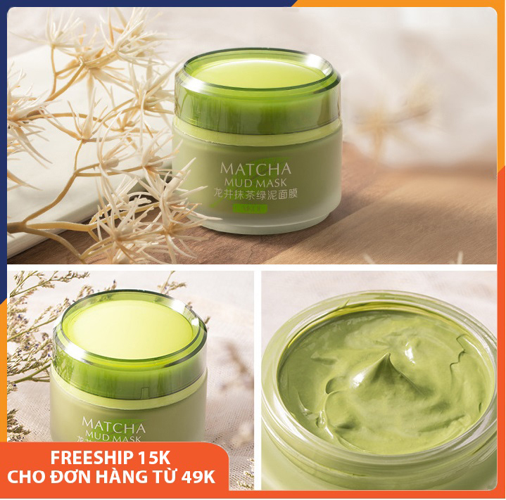 Mặt nạ bùn trà xanh giảm mụn đầu đen Laikou Matcha Mud Mask giúp dưỡng ẩm,se khít lỗ chân lông, làm săn và tăng độ đàn hồi, cấp nước, thải độc, phục hồi da, chống lão hóa, mặt nạ dưỡng da nội địa Trung Melystore SPU113