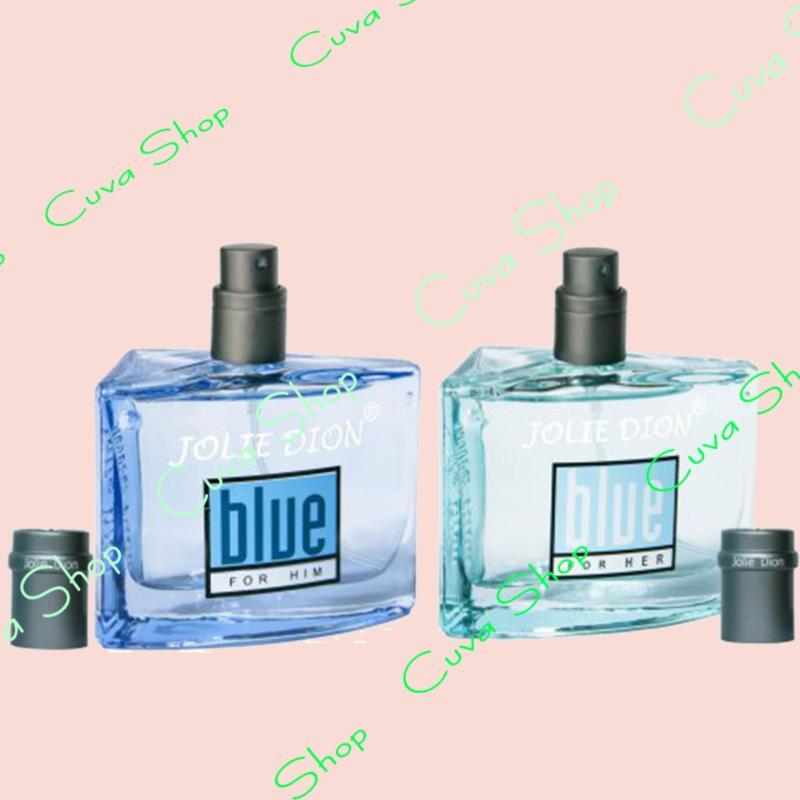 Bộ 2 Nước hoa nam Jolie Dion Blue For Him và Nước hoa nữ Blue For Her 60ml
