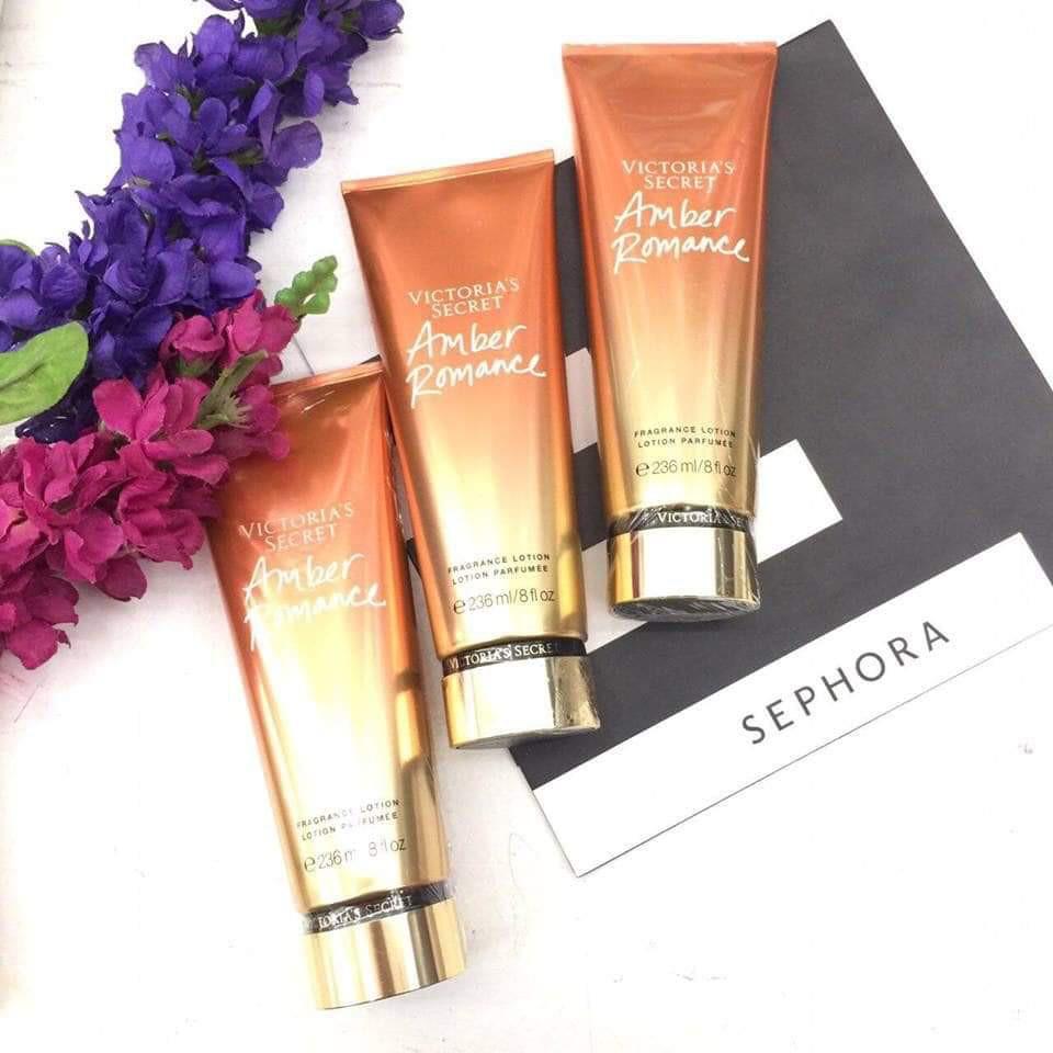Dưỡng thể nước hoa Victoria Secret Amber Romance Fragrance Lotion 236ml