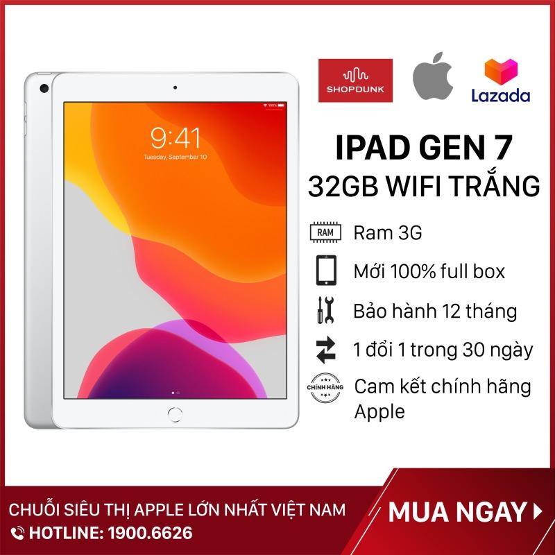 [TẶNG VOUCHER 100K DUY NHẤT NGÀY 15.07] Máy Tính Bảng Apple iPad Gen 7 (2019), Màn hình 10.2 inch , Wifi 32GB, RAM 3GB, Hàng Chính Hãng Apple, Mới 100% full box, Nguyên Seal, Chưa Kích Hoạt Bảo hành 12 tháng - Shopdunk