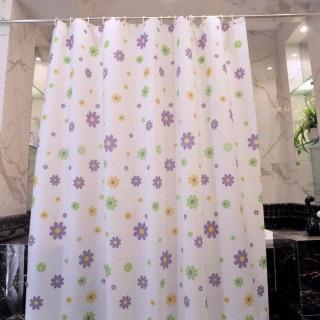 Rèm phòng tắm 1.8m có kèm móc treo HOA NHÍ thumbnail