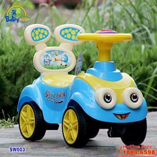 Xe chòi chân ô tô Minion cho bé có nhạc SW003 - xe tập đi, xe thăng bằng, xe đẩy, do choi tre em thumbnail
