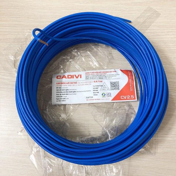 50M dây điện đơn 2.5 CADIVI