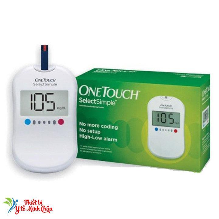 Máy đo đường huyết One Touch Select Simple + Kèm 20 Que thử đường huyết + 25 Kim chích máu bán chạy