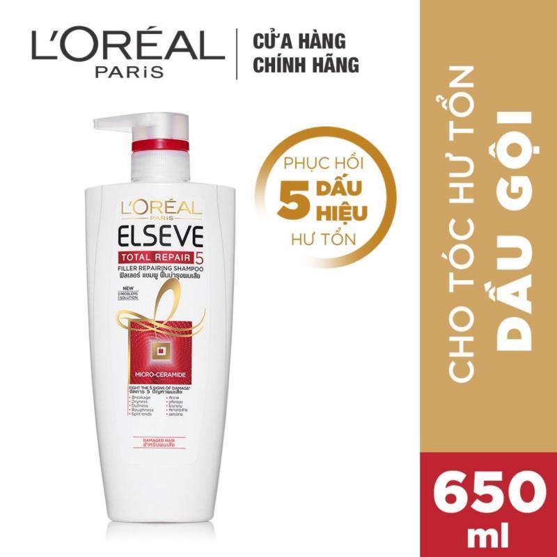 Dầu gội phục hồi tóc toàn diện Loreal Paris Elseve Total Repair 5 Repairing Shampoo 650ml giá rẻ