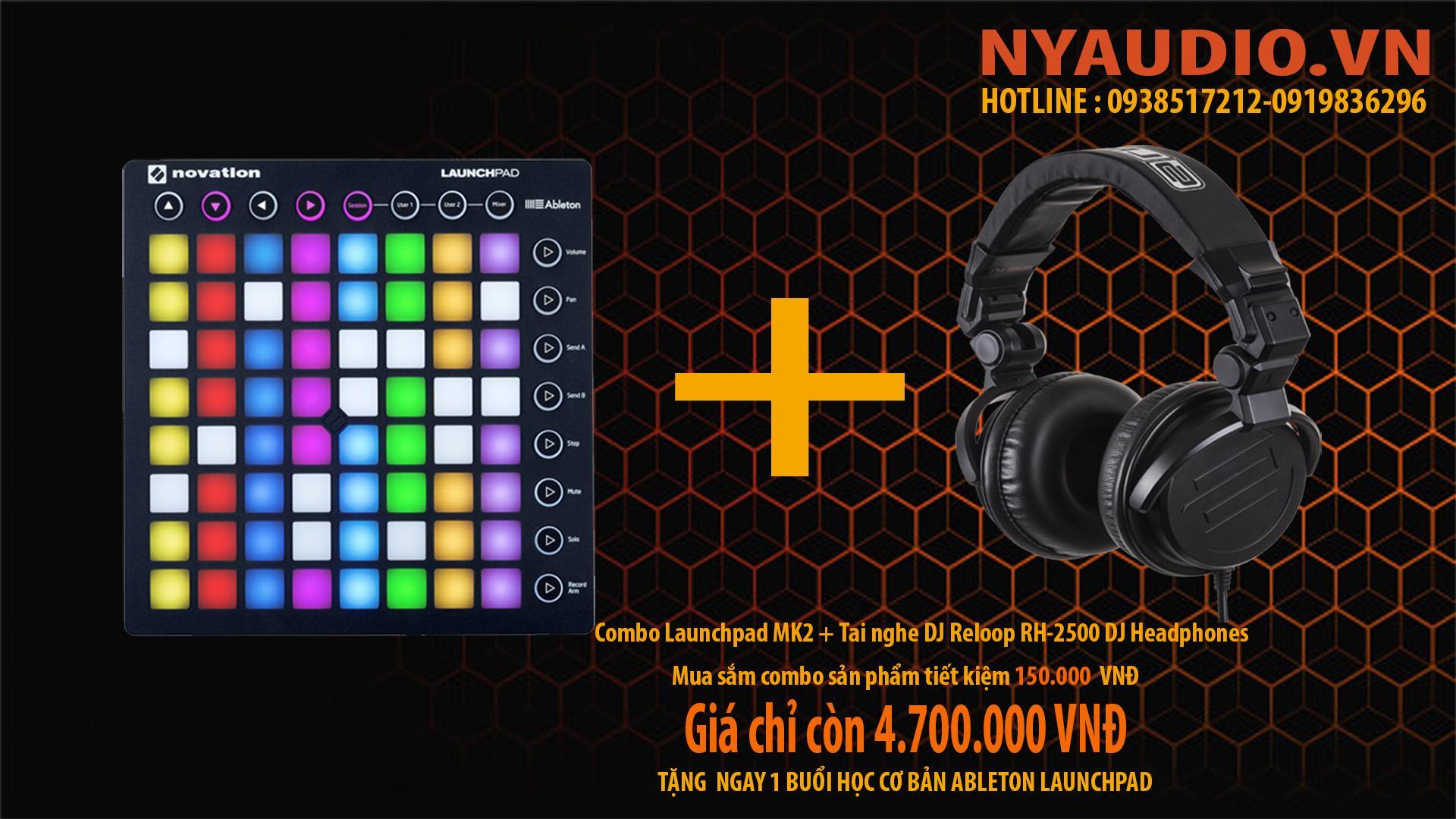 Launchpad Mk2 RGB và tai nghe Reloop RH-2500 DJ Headphones
