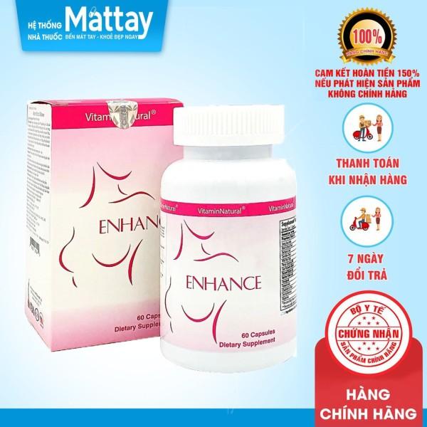 Viên uống nở ngực, tăng kích thước vòng 1, bổ sung nội tiết tố nữ, giảm triệu chứng mãn kinh Vitamin Natural Enhance giá rẻ