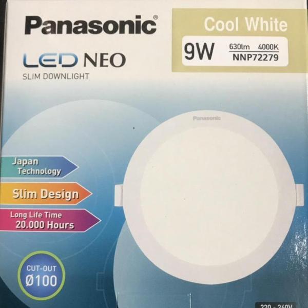 Đèn Led  Âm Trần Siêu Mỏng 9W Panasonic Phi 100 ( made in Indonesia)