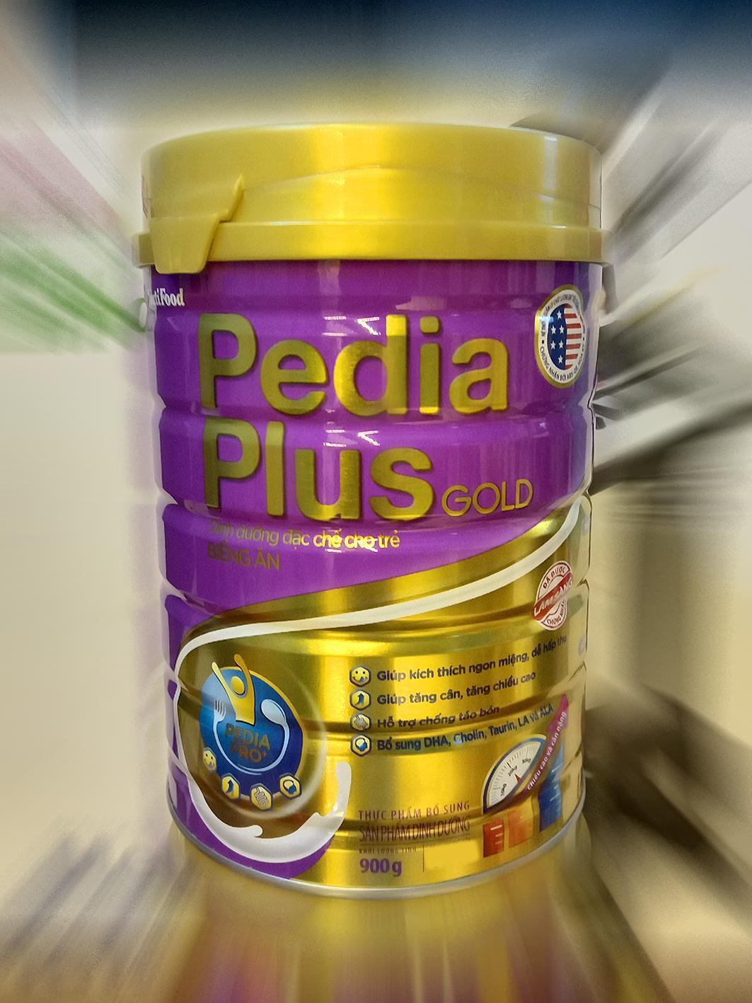 Sữa Nutifood Pedia plus gold cho trẻ biếng ăn loại 900g