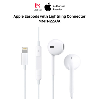 Apple Earpods with lightning connector - Genuine Apple - 100% New (Not Activated, Not Used) - MMTN2ZA A thumbnail
