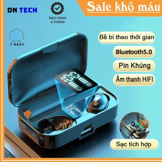 Tai nghe không dây Bluetooth earbuds TWS LB-9 Bản Quốc Tết Chống nước, âm thanh chuẩn HIFI, sạc điện thoại, bluetooth 5.0, Gaming, Pin khủng, Màu đen Bảo hanh 6 tháng thumbnail