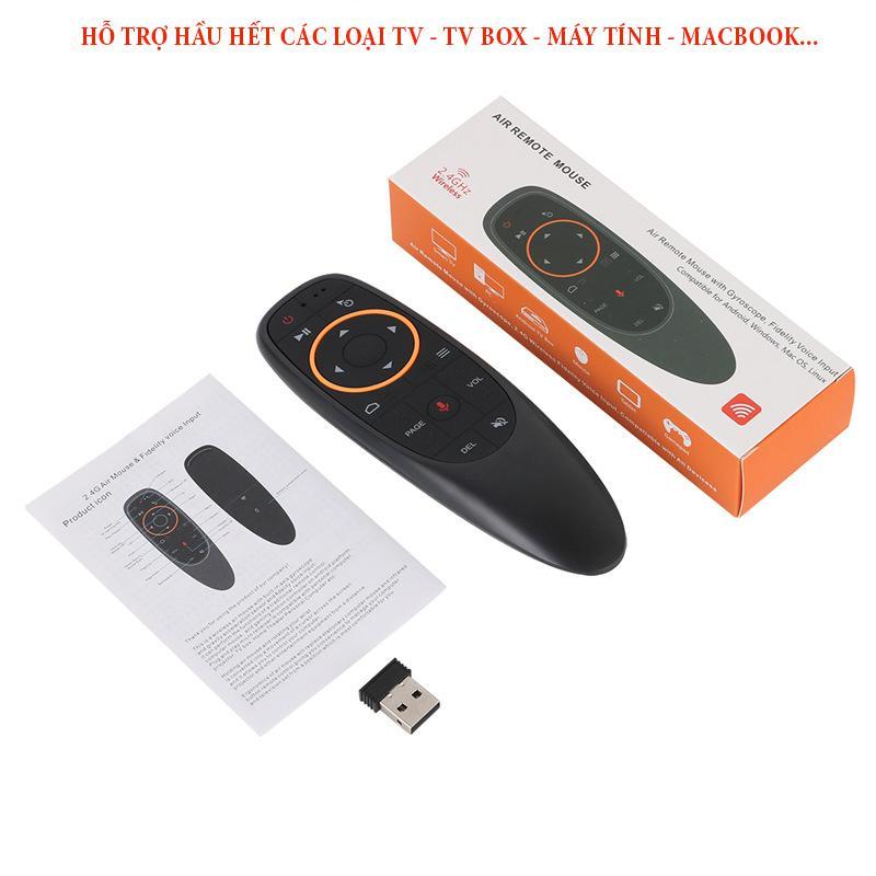 Bảng giá Remote tivi thông minh, Remote tivi thông minh, Remote thong minh tivi, Chuột bay không dây điều khiển giọng nói G10S cao cấp - kết nối mọi hệ điều hành, tương thích mọi loại smart TV Điện máy Pico