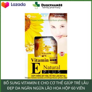 Vitamin e kích trắng 400mg giúp da khỏe đẹp chống lão hóa giúp da khỏe đẹp 60 viên thumbnail
