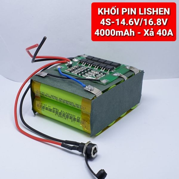 Achun.vn - KHỐI PIN LISHEN 4S-14.6V/16.8V-4000mah Xả 40A