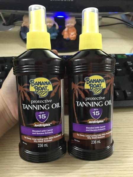 COMBO 2 DẦU PHƠI NẮNG BANANA BOAT TANNING OIL SPF15 236ML