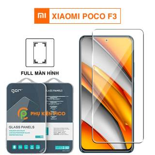Kính cường lực Poco F3 full màn hình chính hãng Gor dùng chung với mọi loại ốp lưng - Dán màn hình Xiaomi Poco F3 thumbnail