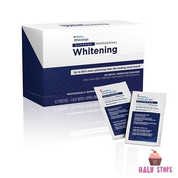 Combo 14 miếng (7 gói/7 ngày) dán trắng răng Crest 3D White loại Supreme Professional - Mỹ