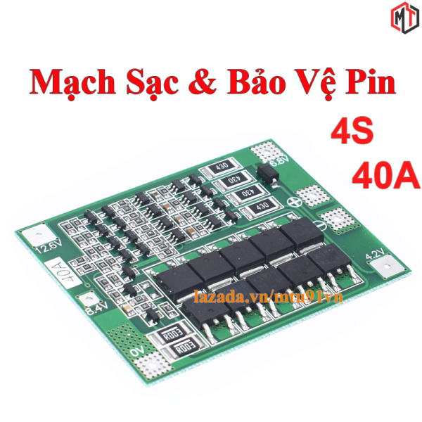 Bảng giá Mạch 4S 40A 14.4V 16.8V - Mạch bảo vệ khối pin Lithium ion 4S 18650 26650 , Dòng xả cao ổn định