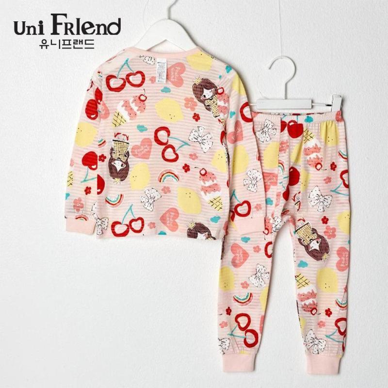 Nơi bán Đồ bộ mặc nhà bé gái Unifriend thun dài họa tiết hoạt hình U9SSTD17