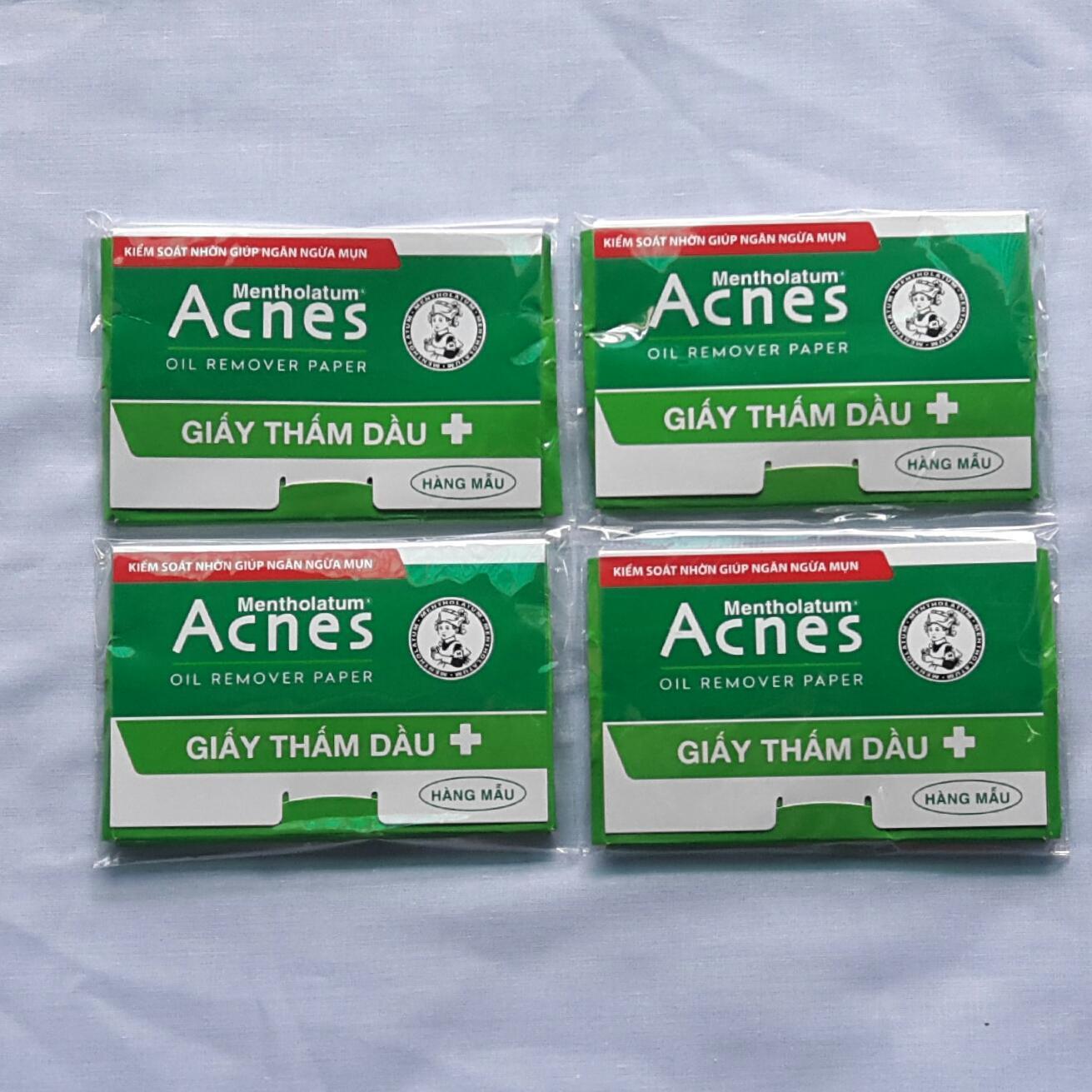Combo 04 bịch Giấy thấm dầu Acnes Oil Remover Paper (50 tờ/bịh)  Hàng Mẫu