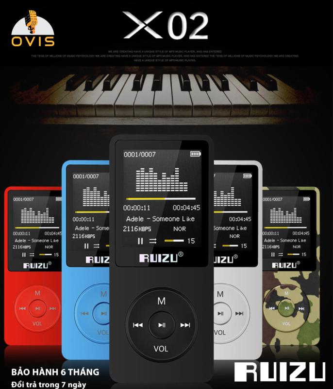 [BH 1 ĐỔI 1] Máy Nghe Nhạc Mp3 Ruizu X02 Giá Rẻ, Dung Lượng Lớn (Tặng kèm tai nghe)