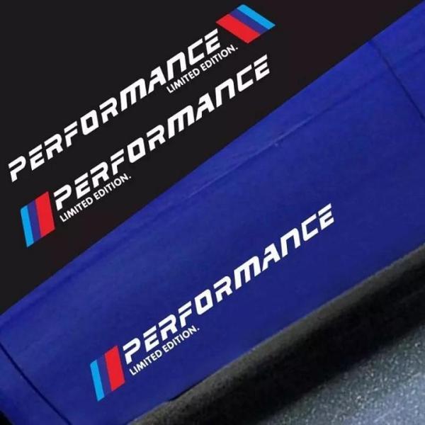 [HCM]Bộ 2 tem dán cửa xe ô tô Performance (trắng)