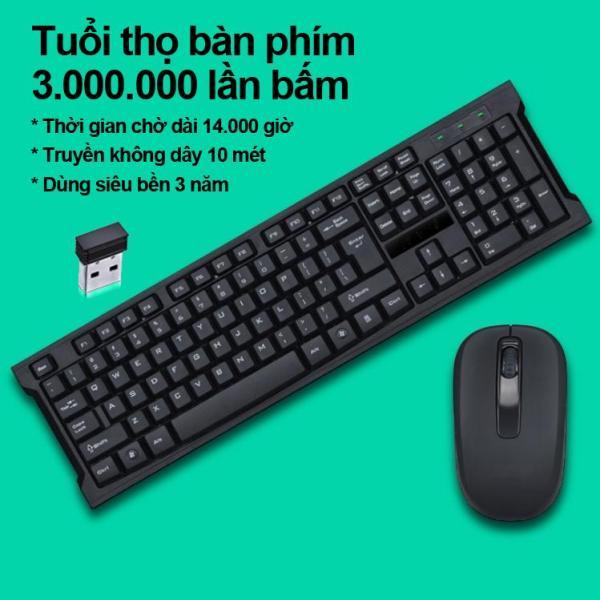 Bảng giá Bộ Bàn Phím Và Chuột Không Dây 2.4G, Phím Bấm Êm Và Đàn Hồi, Sử Dụng Được Cho Laptop Và PC. Bảo hành 12 Tháng. Bộ Combo Wireless Keyboard And Wireless Mouse Kits . ILEPO M6 Phong Vũ