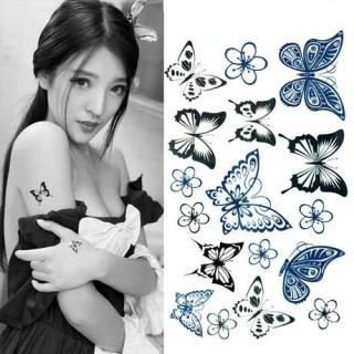 Hình xăm dán bướm nhỏ kích thước 6 x 10 cm - miếng dán hình xăm đẹp dành cho nữ thumbnail
