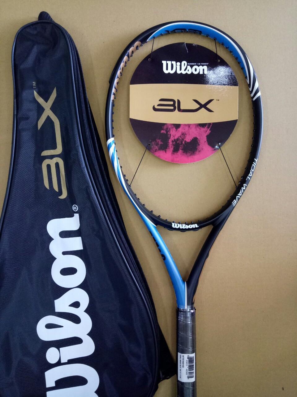 Bảng giá Vợt tennis Wilson 264g- Màu xanh - tặng căng cước quấn cán và bao vợt - ảnh thật sản phẩm