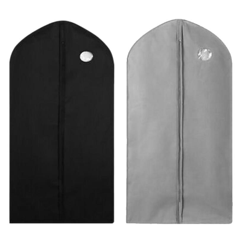 Bảng giá 2PCS Hanging Type Garment Bag Suit Storage Cover Dress Clothes Coat Dust Protector Black+Gray