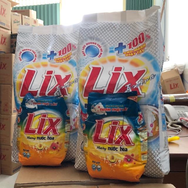 ComBo Bột Giặt Lix Extra 6kg- Tặng Kèm Bột Giặt Đậm đặc Hương Nước Hoa 800g Có Giá Tốt