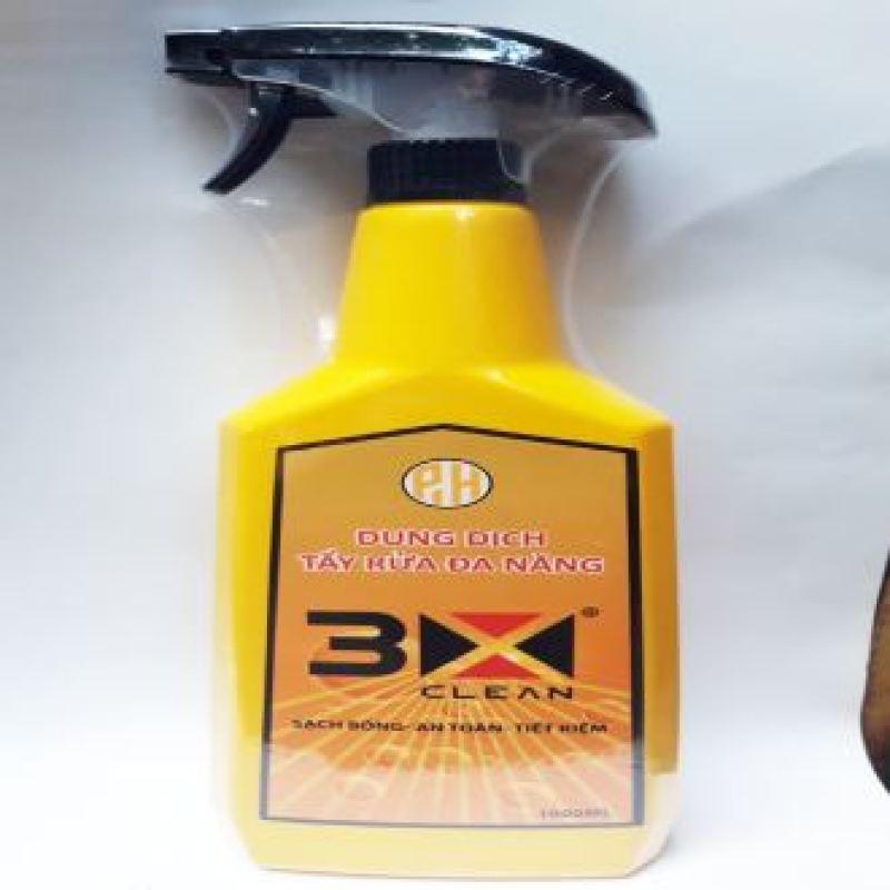 Dung dịch tẩy đa năng 3X-1000ML tẩy kính xe, lốp xe, các loại xe cơ giới dính dầu nhớt, các vật dụng gia đình