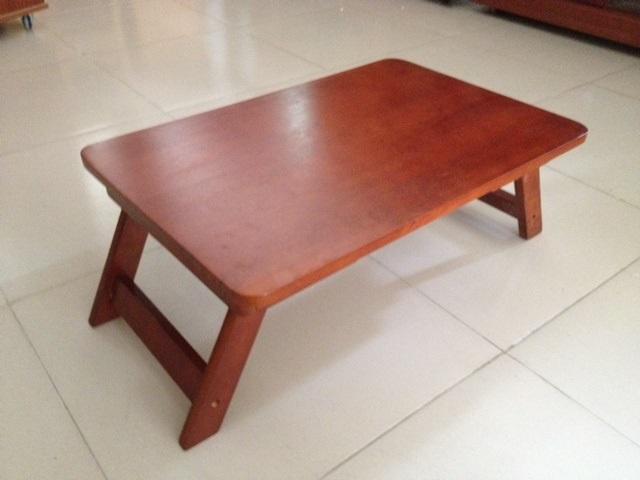 Bàn học gỗ, bàn làm việc ngồi bệt, bàn ăn xếp gấp gọn 50 x 70 gỗ tự nhiên