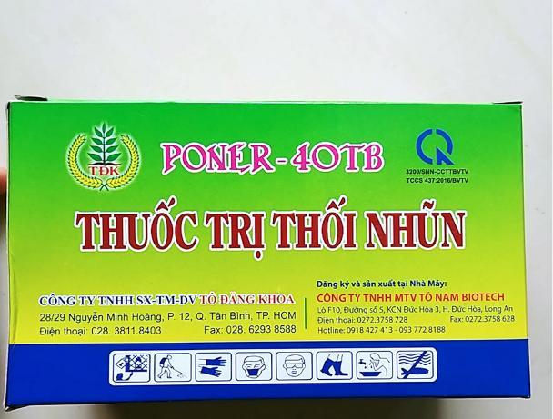 Combo 1 hộp 20 viên sủi  PONER-40TB đặc trị thối nhũn cho phong lan