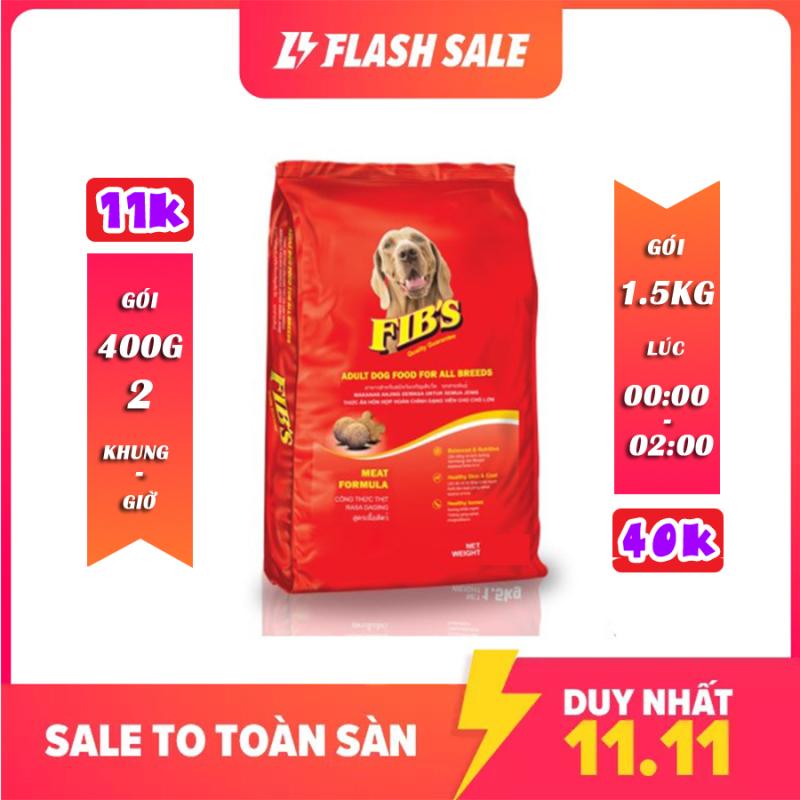 Thức ăn cho chó trưởng thành FIBS 400g và 1.5kg - Vị Thịt Bò - [Nông Trại Thú Cưng]