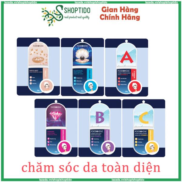 Mặt nạ giấy Foodaholic cấp ẩm, nâng cơ, chăm sóc da toàn diện 23g NPP Shoptido