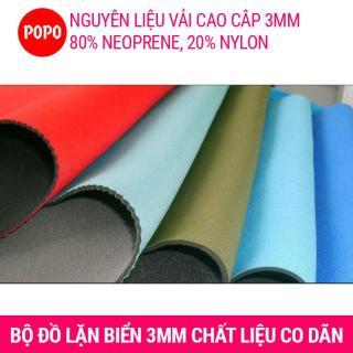 Bộ đồ lặn, quần áo lặn biển 3mm giữ ấm, thoáng khí, chống thầm nước cao cấp POPO Collection 8