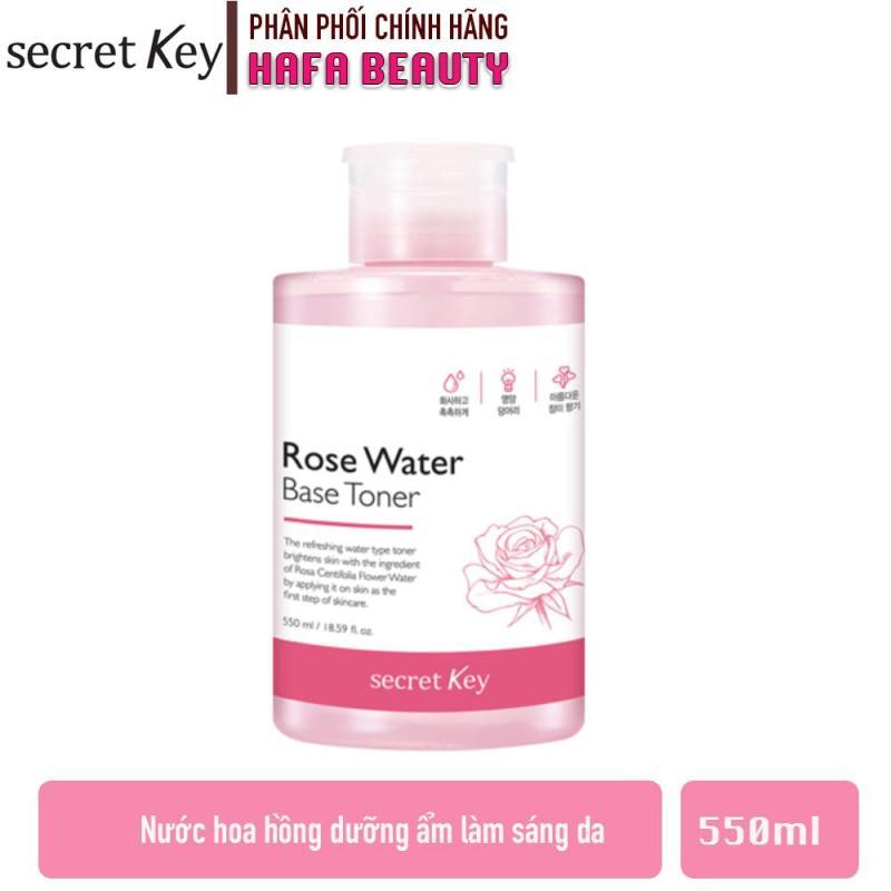Nước Hoa Hồng Dưỡng Ẩm Se Khít Lỗ Chân Lông Secret Key Rose Water Base Toner 550ml cao cấp