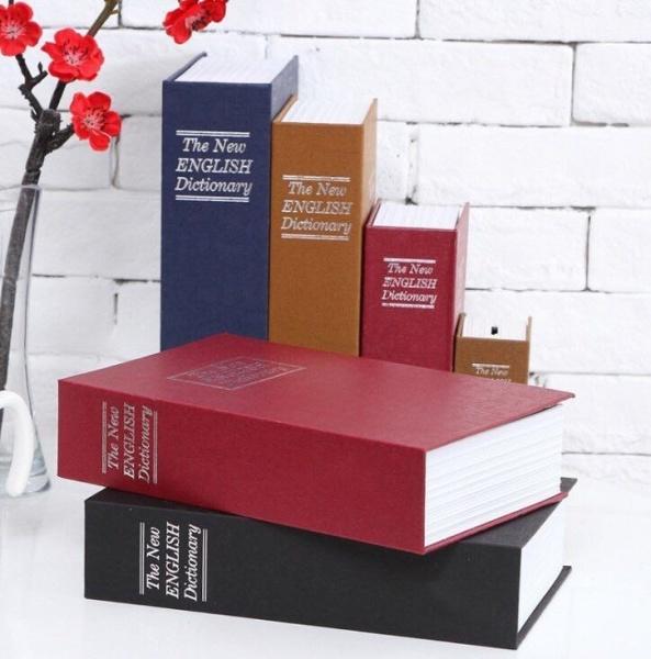 Két Sắt Hình Quyển Sách Mini Kèm Chìa Khóa Nhiều Màu