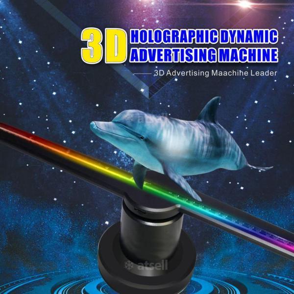 Bảng giá Quạt 3D Hologram Máy chiếu Ánh sáng Quảng cáo Màn hình LED Quạt hình ảnh Holographic Đèn hình ảnh 3D Wifi Từ xa Máy chiếu Hologram Phong Vũ