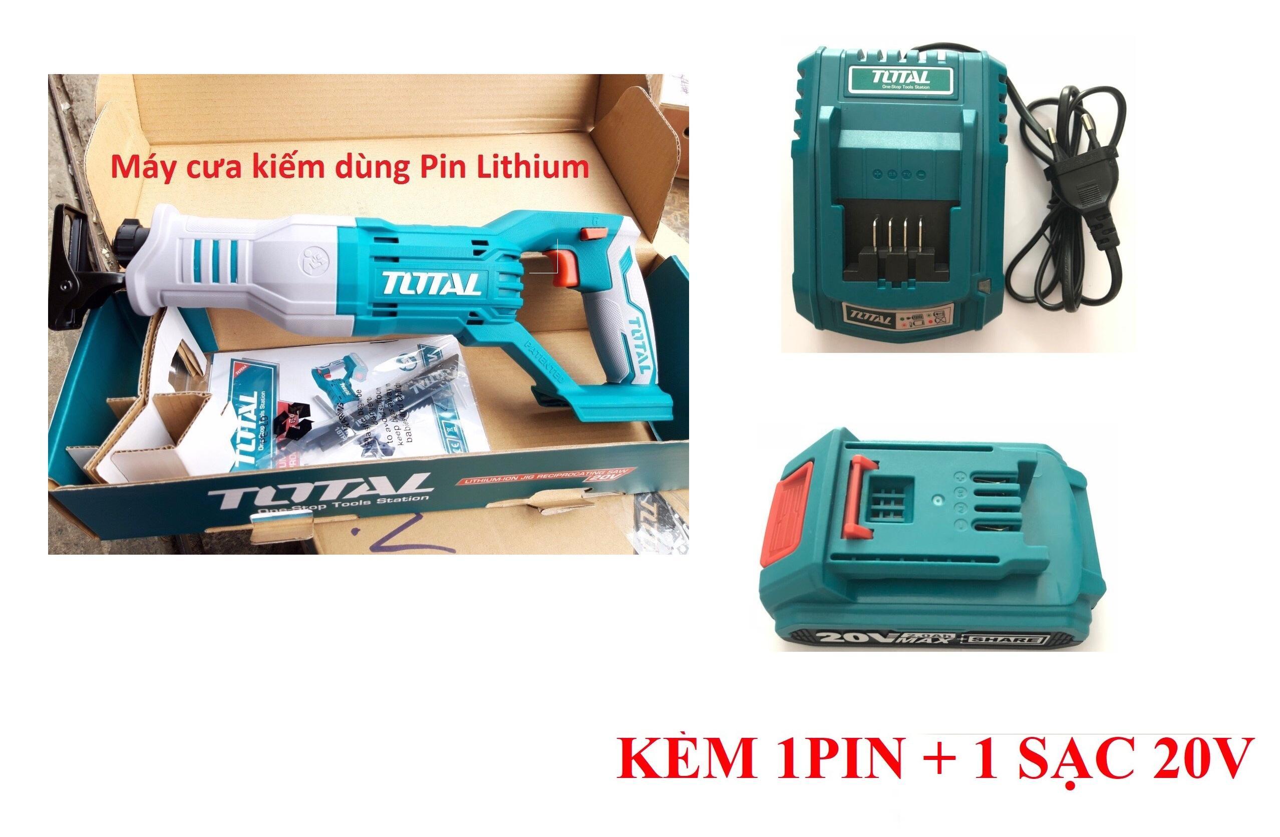 20V Máy cưa kiếm dùng pin Total TRSLI1151 (KÈM 1PIN + 1 SẠC 20V)