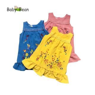 Đầm Đũi Bèo Lai Thêu Hoa Rực Rỡ bé gái BabyBean thumbnail