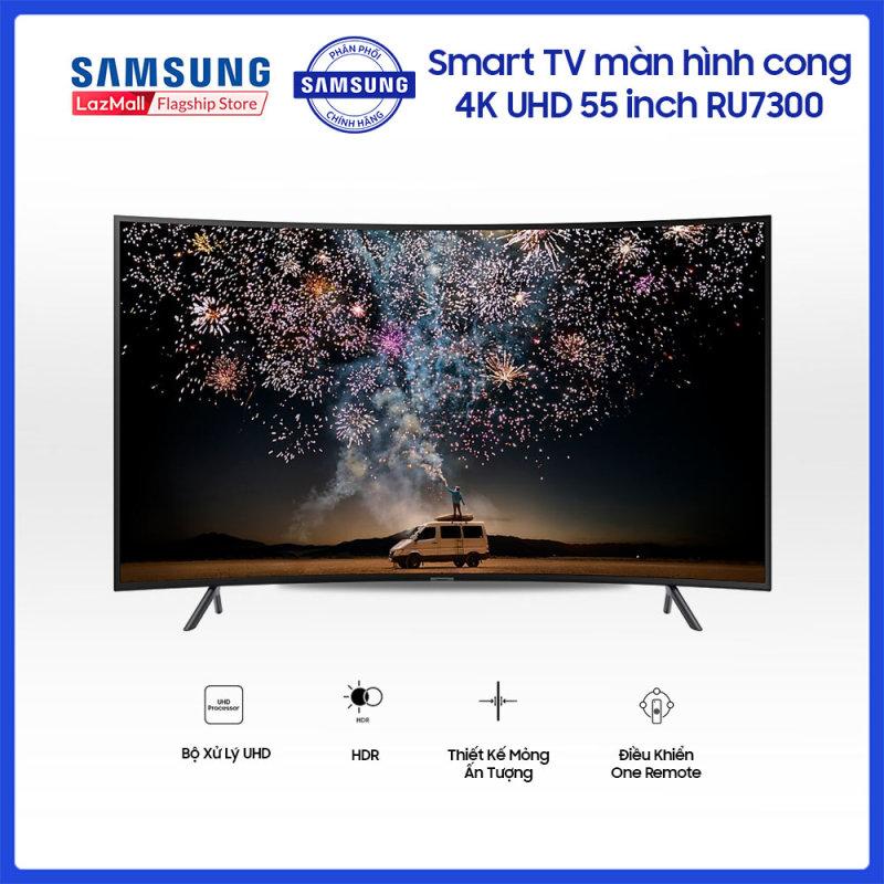Smart TV Samsung màn hình cong 4K UHD 55 inch RU7300, giải trí đỉnh cao, độ phân giải sắc nét, tiện ích kết nối thông minh. chính hãng