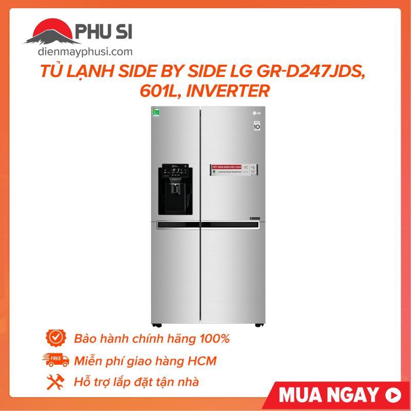 Tủ lạnh Side by Side LG GR-D247JDS, 601L, Inverter