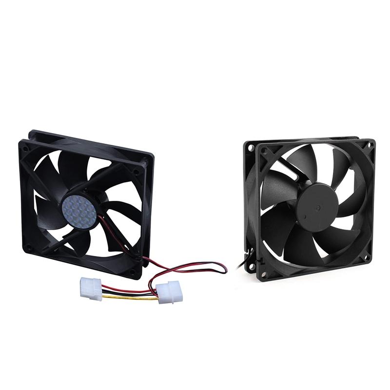 Bảng giá 2Pcs Sleeve Bearing Cooling Fan for PC Case CPU Cooler - 120Mm x 25Mm DC 24V 4Pin & 92Mm x 25Mm 24V 2Pin Phong Vũ